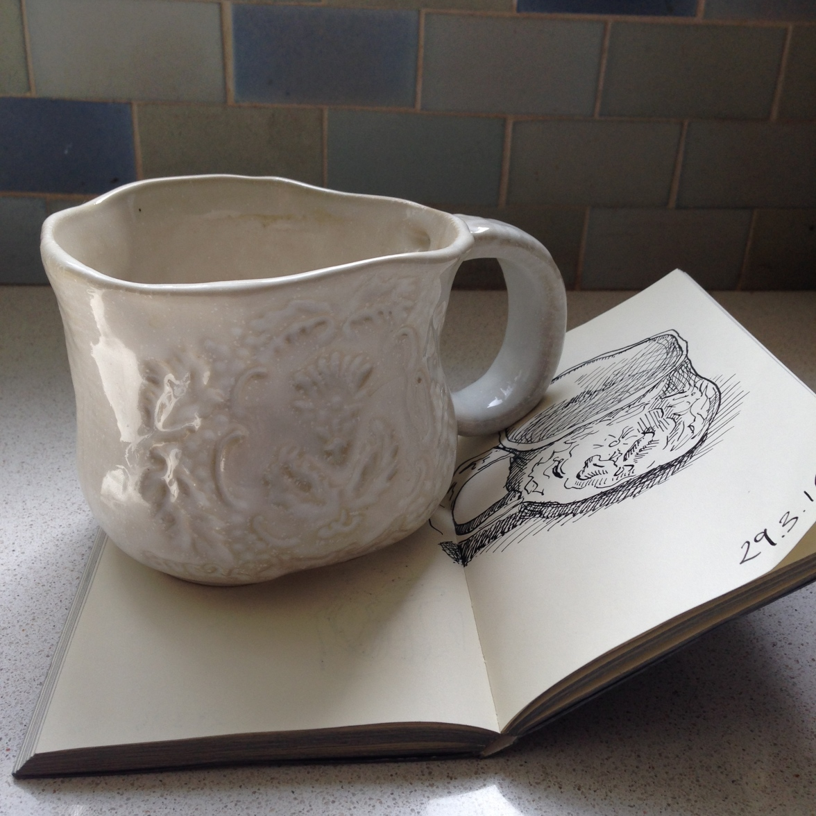 sketched cup