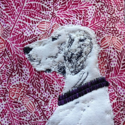 detail of White Dog portrait