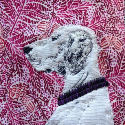 detail of White Dog portrait