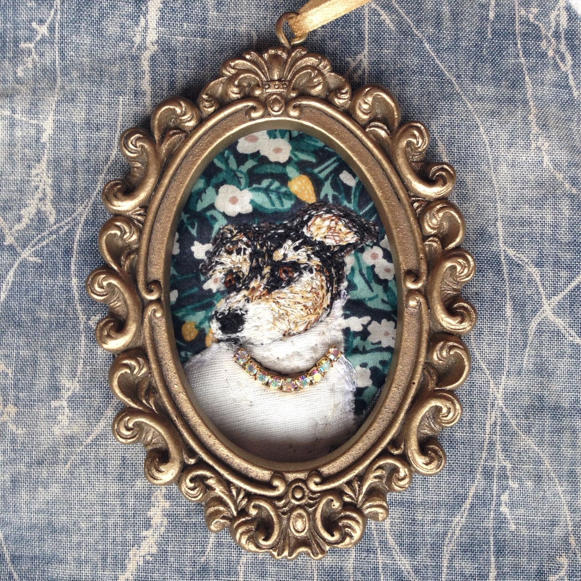 Audrey Versace in locket, a new Elizabethan